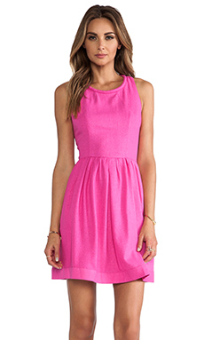 harlyn Racer Back Mini Dress in Hot Pink