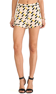 harlyn High Waisted Tap Short in Neon Geo