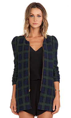 harlyn The Georgette Jacket in Plaid