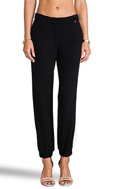harlyn G Cuffed Trousers in Black/White