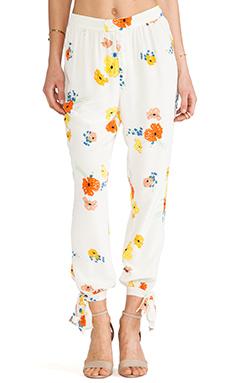 harlyn Open-Tie Trouser in Poppy Floral