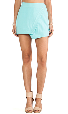 harlyn Wrap Mini Skirt in Aqua