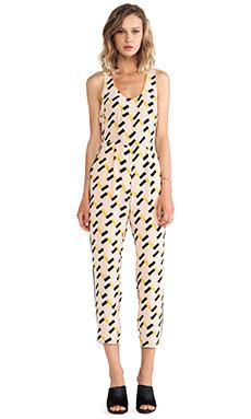 harlyn Peg Leg Jumpsuit in Neon Geo