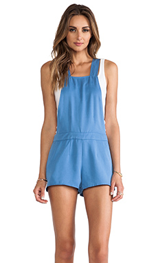 harlyn Short Overall in Denim