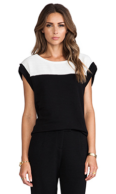 harlyn G Top in Black & White