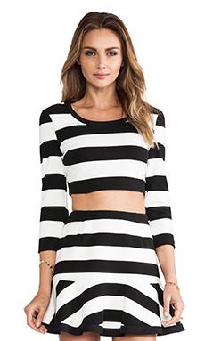 harlyn Crop Top in Black & White