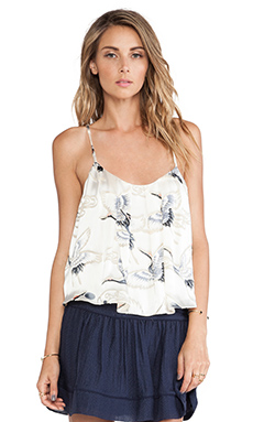 harlyn The Annette Tank in Swan Print