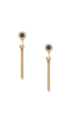 SUNBURST TASSEL EARRINGS