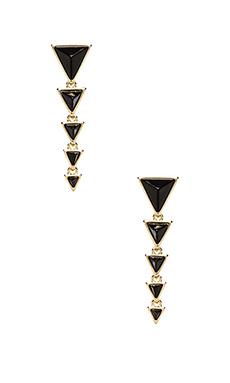 House of Harlow Meteora Drop Earrings in Gold/Black Onyx