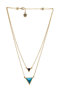 House of Harlow The Temple Necklace in Gold/Turquoise