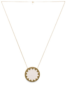 House of Harlow Sunburst Pendant Necklace in White