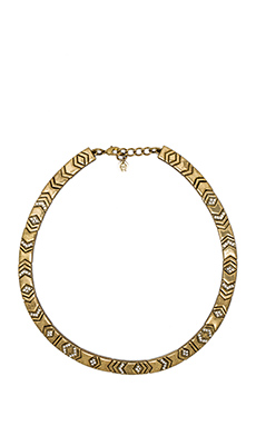 House of Harlow Echo Crest Collar in Gold
