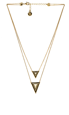 House of Harlow Teepee Triangle Necklace in Gold & Ivory