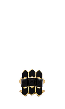 House of Harlow Sugarloaf Ring in Gold & Black