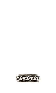 House of Harlow Triangle Plateau Midi Ring in Silver