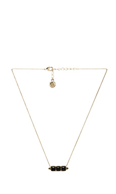 House of Harlow Sugarloaf Bar Necklace in Gold & Black