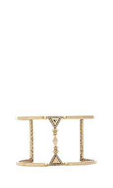 House of Harlow Tres Tri Cut Out Cuff in Gold