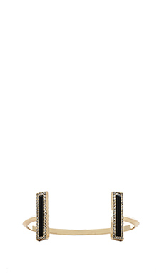 House of Harlow Illuminating Rectangle Cuff in Black
