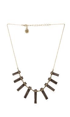 House of Harlow Chrysalis Necklace in Smokey Quartz