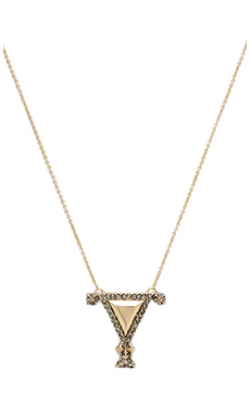 House of Harlow Tres Tri Necklace in Gold
