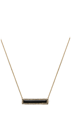 House of Harlow Illuminating Rectangle Necklace in Black