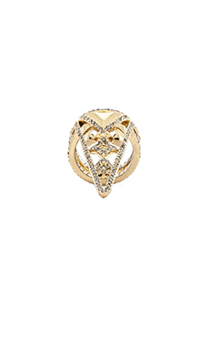 House of Harlow Tres Tri Ring in Gold