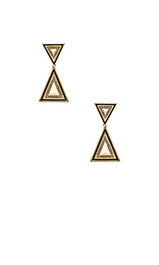 House of Harlow Teepee Drop Earrings in Gold & Ivory