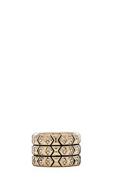 House of Harlow Echo Crest Ring in Gold