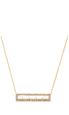 House of Harlow Illuminating Rectangle Necklace in Howlite