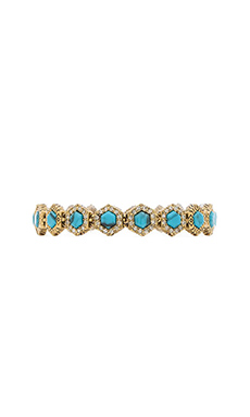 House of Harlow Hexes Tennis Bracelet in Gold & Turquoise