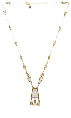 House of Harlow Trapezio Chandelier Necklace in Gold & Siver