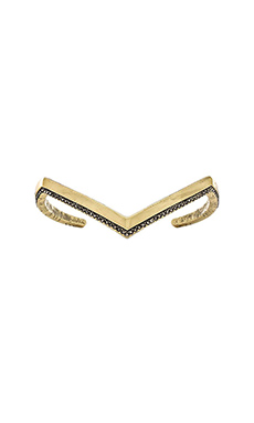 House of Harlow Aztec Angles Cuff in Gold