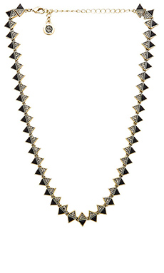 House of Harlow Ascension Collar Necklace in Gold & Black