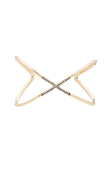 House of Harlow Sound Waves Cuff in Gold