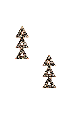House of Harlow Tessellation Earring in Rose Gold