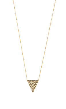 House of Harlow Pave Tribal Triangle Necklace in Gold