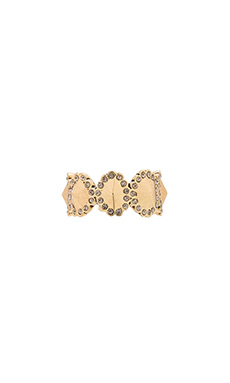 House of Harlow Geodesic Band Ring in Gold