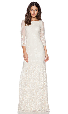 Hoss Intropia Long Dress in Ivory