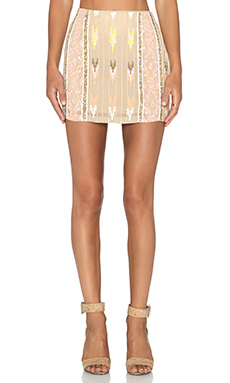 Hoss Intropia Embellished Skirt in Light Pink