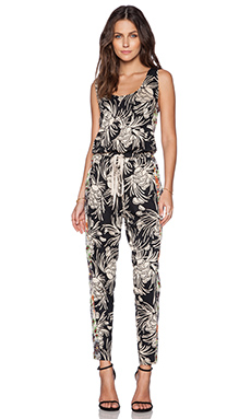 Hoss Intropia Dungaree in Black Print