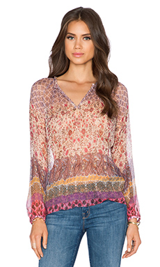 Hoss Intropia Blouse in Pink Print