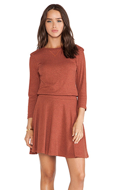 Heather Shoulder Wing Dress in Heather Harvest