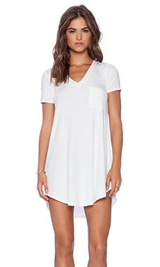 Heather V Neck Dress in White