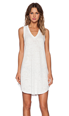 Heather Burnout Tank Dress in White