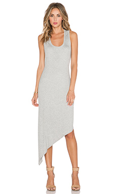 Heather Asymmetrical Dress in Light Heather Grey