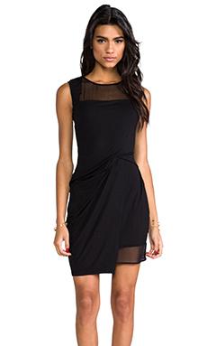 Heather Silk Layered Mini Dress in Black