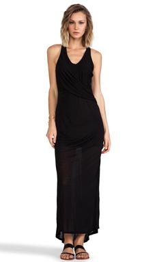 Heather Fishtail Maxi Dress in Black