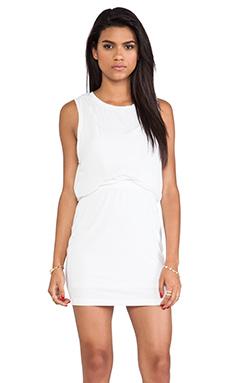 Heather Silk Twist Layer Mini Dress in White