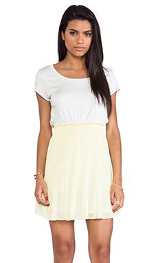 Heather Pleated Mini Dress in Lemonade