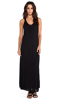 Heather Double Maxi Tank Dress in Black